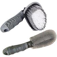 LIOOBO 1 Juego de Cepillo de Detalle de Cepillo de Lavado de Manos Cepillo de Ruedas de Mano/Cepillo Multifuncional + Cepillo de Ruedas