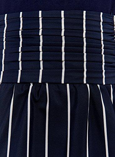 oodji Ultra Damen Rock mit Asymmetrischem Saum Blau (7912S)