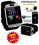 #8: Voltac Bluetooth Smart Watch DZ09 Phone With Camera and Sim Card & SD Card Support For Android/IOS Mobile With Stainless Steel Egg mould Inside the box.