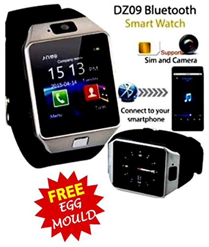 Voltac Bluetooth Smart Watch DZ09 Phone With Camera and Sim Card & SD Card Support For Android/IOS Mobile With Stainless Steel Egg mould Inside the box.