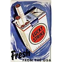 Lucky Strike Zigaretten Blechschild 20 X 30 Retro Blech 451
