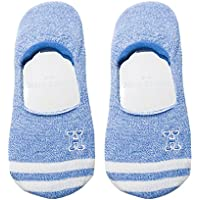 Preisvergleich für Maivasyy 3 Paar Socken Boot Socks Frauen Unsichtbar Silikon Rutschhemmend Kurze Damen Frühling Sommer Socken, Blau
