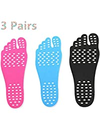 ROSENICE Sandali scalzi impermeabili antisdrucciolevoli Piedini piedi piedi Padelle Invisible Scarpe Inserto L 1 Pair (Nero)