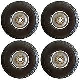 4 Stück Sackkarren-rad Stahl-Felge mit Stahl Kugellager Bollerwagen-rad 260 mm für Achse 20mm