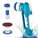 Scrubber, Household Power Handreiniger-Bürste Akku-Handgriff-Spin-Scrub mit Akku für Spülbürste Kleine Waschmaschine Fliese Badewanne Auto-Reinigungsbürste