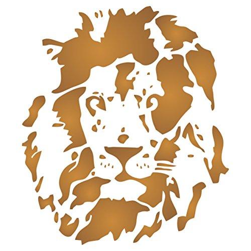 Lion Head Schablone-wiederverwendbar African Big Cat Animal Wildlife Schablonen für Malerei-zur Verwendung auf Papier Projekte Scrapbook Tagebuch Wände Böden Stoff Möbel Glas Holz usw. Größe S -