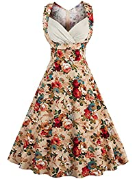 E-Girl M126518D Robe de bal Vintage pin-up 50's Rockabilly robe de soirée cocktail,S-XXXXL