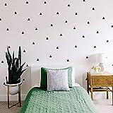 Arizona Black Triangle Stickers (Stickers muraux pour garçons filles pépinière, chambre à coucher, salon Noir Triangle Room Sticker (80 pièces)