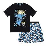 9be84cc29c Doctor Who - Herren Schlafanzug - kurz - Retro-Design - offizielles  Merchandise - Geschenk
