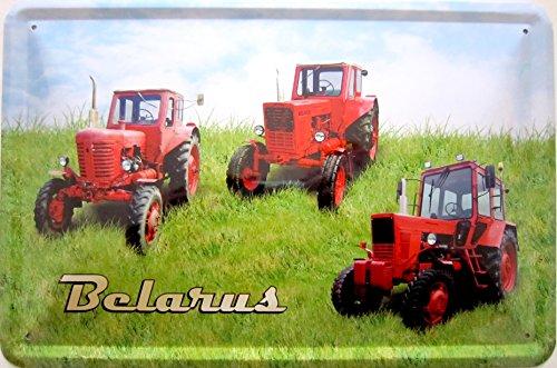 Blechschild Schild 20x30cm - Belarus Traktor Landwirtschaft Landtechnik