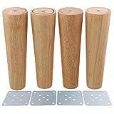 Lot de 4 pieds de canapé ou de meubles obliques en bois BQLZR , M4170724030...