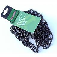 SupaFix lot de 2 m de chaîne à maillons soudés acier plaqué electro hématite 5 mm x noir 21 mm