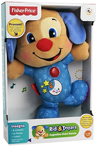 Fisher-Price bgc05–Der Hund Sweet Slumber Buddies und die Schwester des Hund Sweet Slumber Buddies–sortiert (Hund Buddy Plüsch Spielzeug)