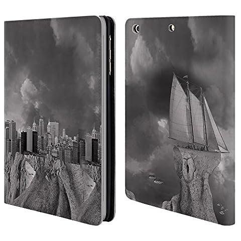 Offizielle Thomas Barbey wie ein Fisch auf dem Trockenen Städte Brieftasche Handyhülle aus Leder für Apple iPad mini 1 / 2 / 3