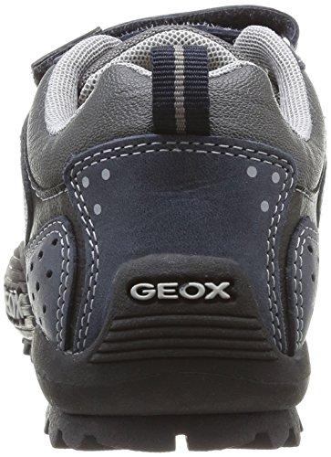 Geox Savage A, Jungen Sneakers Blau (Bleu (Navy/Grey))