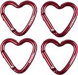 Munkees 2 x Cuore 2-Pack, a Forma di Cuore Catena Chiave, Multiuso Confezione Doppia di carabina, Rosso, 32209