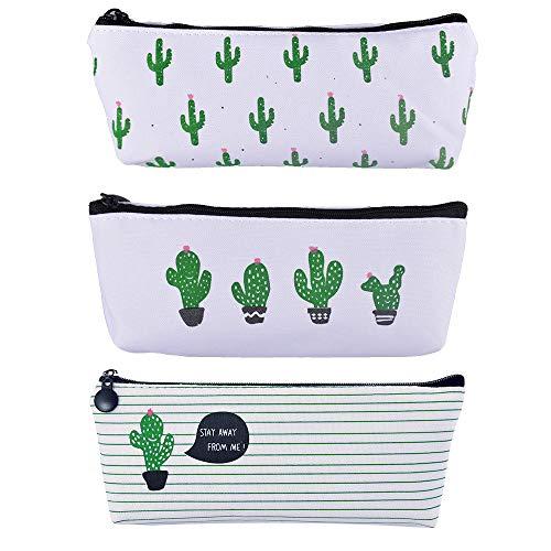 3pz astucci per matite cactus carini portamatite portapenne portamonete portafogli borsa per trucco cosmetico