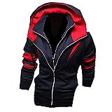 Herren Jungen Slim Fit Hoodie Sportwear Laessige Jacke Hoher Kragen Oberkleidung Outerwear(48,Blue)