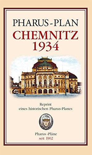 Pharus-Plan Chemnitz 1934: Reprint eines historischen Pharus-Planes