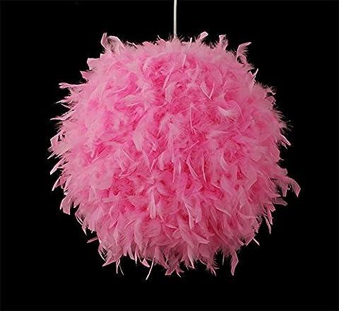 GBT Lustre À Plumes Blanches Nordique Créativité Individualité Art Fille Chambre À Coucher Princesse Plume Lumière Simplicité Moderne ( Rose )