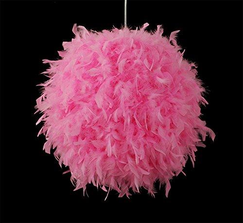 Preisvergleich Produktbild GBT Schlafzimmer Persönlichkeit Fashion Einfach Weiß Rose Red Rosa Feder Ball Kronleuchter, pink LED Lichter, warm, Licht, Weißes Licht, Kronleuchter, innen-Lichter, Leuchten, Wand-