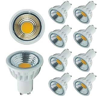 uplight gu10 led bulbs pack of 10 led gu10 dimmable 5 5w ac240v 550lm 2700k warm white 60 watt. Black Bedroom Furniture Sets. Home Design Ideas
