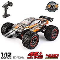 VATOS Remote Control Car High Speed Off-Road RC Car 1:12 Scale 46km/h 4WD 2.4GHz Radio Electric Racing Car RC Buggy Vehicle Truck Buggy Hobby Car for Adults and Kids