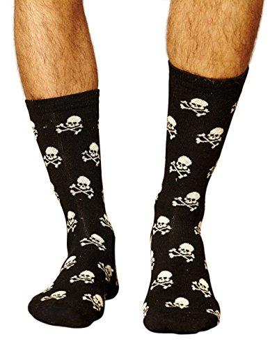 Herren Piraten Design schwarz Socken von Braintree. Aus Bambus.