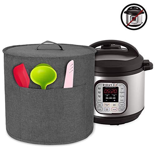 Luxja Abdeckhaube für Instant Pot IP-DUO60, Anti-Staub Abdeckung für 6 Liter Elektrische Schnellkochtöpfe und Zubehör, Grau