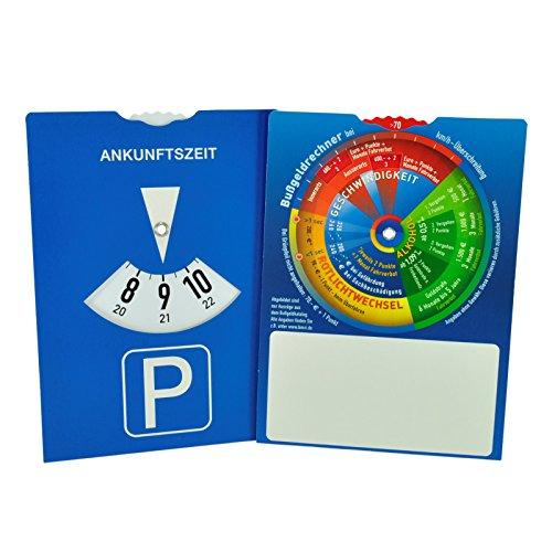 Preisvergleich Produktbild Parkscheibe mit Bußgeldrechner auf der Rückseite - Neutral ohne Werbung