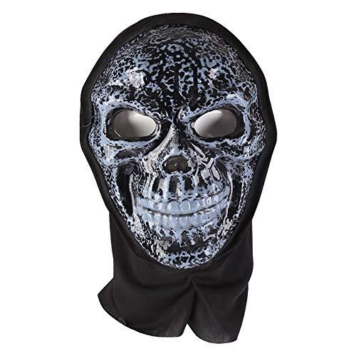Forart Ghost Face Mask Vollgesichts-Ghost Hoods Sturmhaube Kostüm Headwear Tactical Hood für Cosplay Party Halloween Radfahren Skifahren Jagd