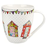 The Caravan Trail Churchill China Festival - Taza de porcelana, diseño de casas floridas,...