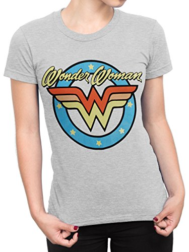 Ladies Wonder Woman Grey T-shirt