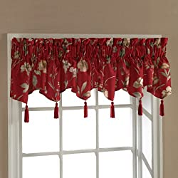 American Curtain and Home Henderson Window Treatment Ascot Valance, 54-Inch by 15-Inch, Burgundy