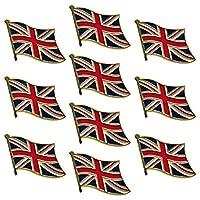 UK Flag Waving Lapel Pins United Kingdom Badge Pin