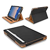 "MOFRED® Black & Tan iPad Air 2 (Launched 2014) Leather Case-MOFRED®- Executive Multi Function Leather Standby Case for Apple iPad Air 2 with Built-in magnet for Sleep & Awake Feature -- Independently Voted by ""The Daily Telegraph"" as #1 iPad Air 2 Case! Bild"