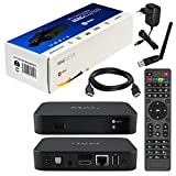 MAG 322 Original Infomir / HB-DIGITAL IPTV SET TOP BOX Multimedia Player Internet TV IP Receiver (HEVC H.256 support) sucesor de MAG 254 + WLAN WiFi USB Adaptador de HB-Digital con antena + HB Digital HDMI cable