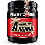 ARGININ HIGH END - 500g Pulver hochdosiert - 100% reinste L-Arginine Base für maximale Nährstoffversorgung durch erhöhten Blutfluss - natürlich, pflanzlich, vegan - Made in Germany (Waldmeister)