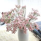 Longra Wohnaccessoires & Deko Kunstblumen Künstliche Seide Fake Blumen Baby's Breath Floral Wedding Bouquet Party Dekore Blume (pink)
