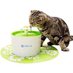 isYoung Pet Fountain Dispensador de agua Automático para Perros y Gatos, Fuente de Perro sano e Higiénico