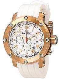 TW Steel TW-132 - Reloj unisex de cuarzo, correa de silicona color blanco