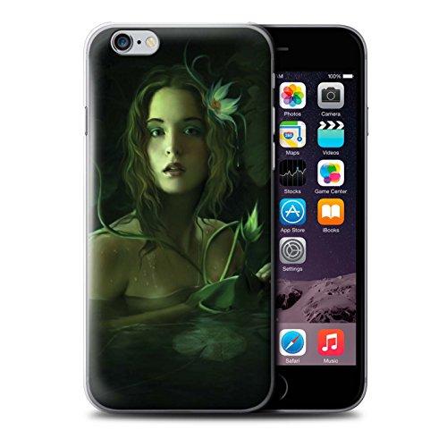 Officiel Elena Dudina Coque / Etui pour Apple iPhone 6S+/Plus / Éclaboussure Rouge Design / Un avec la Nature Collection Bain Caché