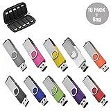 32GB USB-Stick 10 Stück USB Stick 2.0 Speicherstick Memory Stick (10 Mischfarben & Tasche)