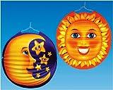 Lampion Sonne Mond sort.