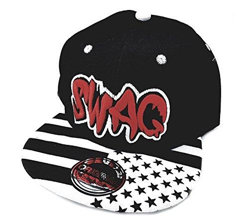 Imagen de snapback sports caps  rojo negro swag