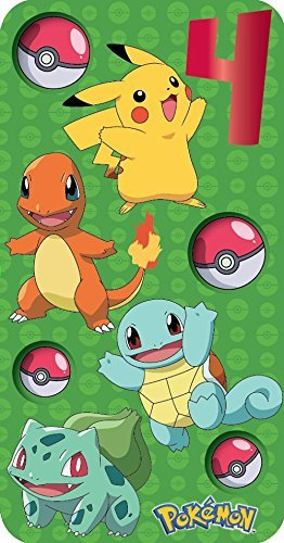 Pokemon 4. Geburtstag Karte