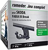 Rameder Attelage rotule démontable pour Skoda Fabia III Break + Faisceau 7 Broches...
