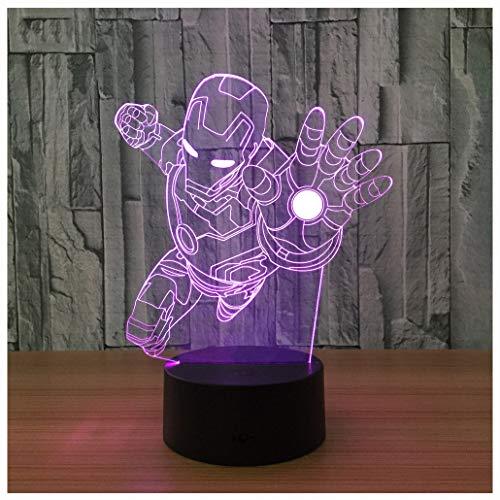 Star Wars LED ZNZ Illusion Lumineuse Lumineuse Pièce pour Enfant Bande Dessinée Anime Petite Lampe de Table USB Sensation de Charge Toucher Sept Couleurs Veilleuse (25-32),29