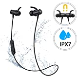 Mpow Auricolari Bluetooth 5.0 Sport, [Versione Nuova] S11 Cuffie Wireless con aptX e IPX7 Impermeabile, Auricolari Magnetici con Suono Stereo HD per 9 Ore di Uso, CVC6.0 Riduzione del Rumore, Nero
