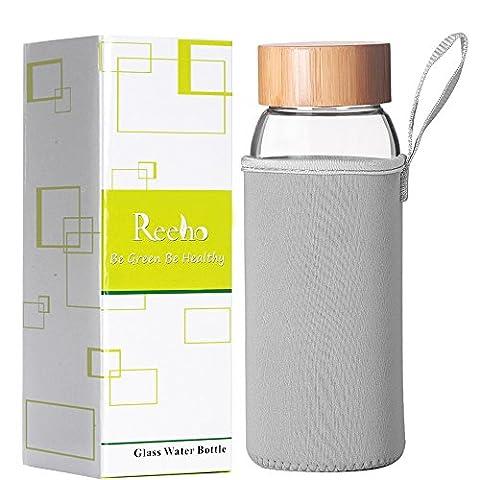 Reeho® 700ml Portable Borosilicate Bouteille En Verre d'eau Avec Manchon